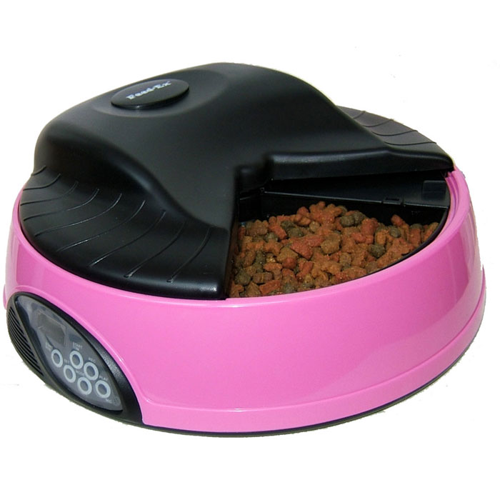 Автоматическая кормушка  Feed-Ex , на 4 кормления, с емкостью для льда или воды, цвет: розовый - Аксессуары для кормления