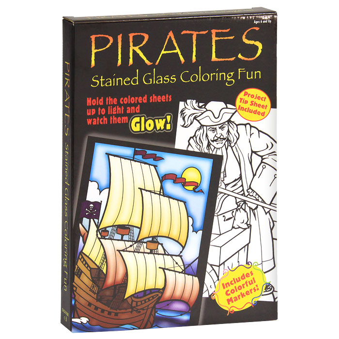 Pirates Stained Glass Coloring Fun