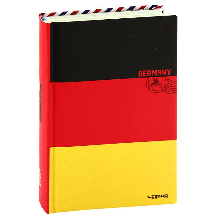 Блокнот Флаг Германии0101098Стильный блокнот Флаг Германии в твердом переплете - яркий аксессуар человека, ценящего практичные и качественные вещи. Обложка оформлена изображением немецкого флага и почтового штампа. Внутренний блок содержит разноцветные нелинованные листы и листы в линейку для заметок. Страницы оформлены надписями и фотографиями. Для удобства поиска нужной страницы в блокноте предусмотрено ляссе. Блокнот Флаг Германии - прекрасный подарок и незаменимый аксессуар современного человека. Характеристики: Материал:картон, бумага.Размер блокнота:11 см х 18,5 см.Изготовитель:Китай.Артикул: 101098.