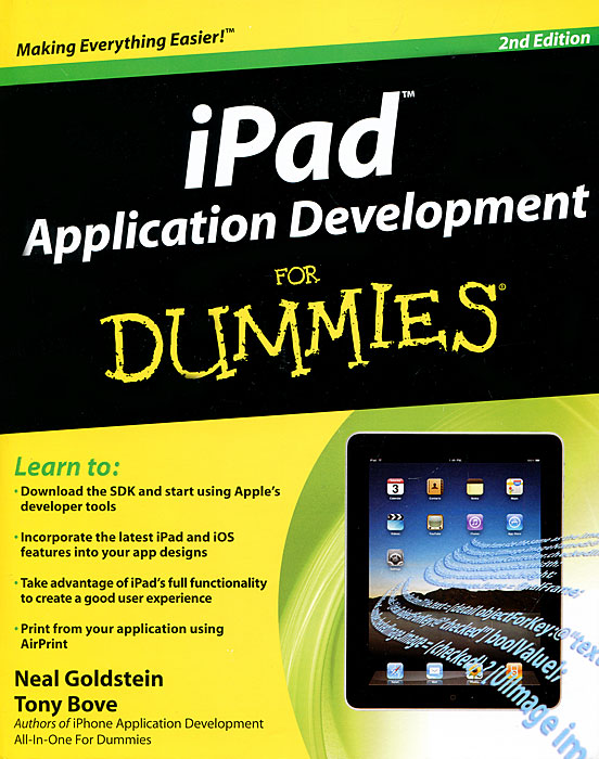 iPad Application Development For Dummies elaine biech training and development for dummies