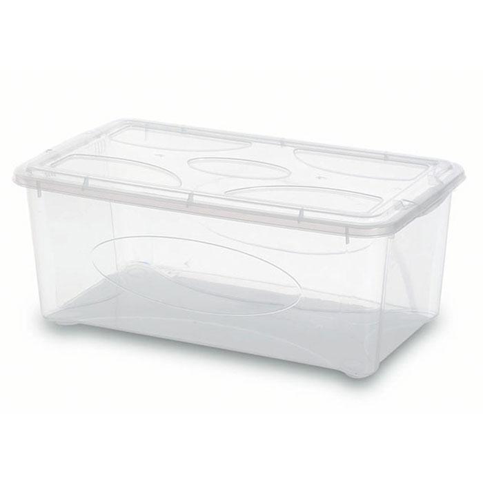 Контейнер Gensini с крышкой, универсальный, 10 л2205Универсальный контейнер Gensini прямоугольной формы прекрасно подойдет для хранения небольших игрушек, инструментов, швейных принадлежностей и многого другого. Он изготовлен из высококачественного прозрачного пластика. Благодаря прозрачности вы всегда сможете видеть содержимое контейнера и без труда отыщите нужную вам вещь. Контейнер закрывается крышкой. Удобный и легкий контейнер позволит вам хранить вещи в полном порядке, а благодаря современному дизайну он впишется в любой интерьер. Контейнер имеет компактные размеры, поэтому не занимает много места. Характеристики: Материал: пластик. Размер контейнера: 40 см х 24 см х 16 см. Объем контейнера:10 л. Производитель: Италия. Артикул: 2205.