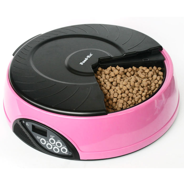 Автоматическая кормушка  Feed-Ex , на 4 кормления, цвет: розовый - Аксессуары для кормления