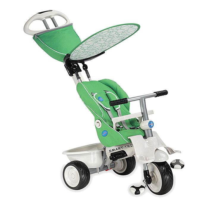 Трехколесный велосипед Smart-Trike Recliner Stroller, цвет: зеленый. 1910800 трехколесные самокаты smart trike скутер ski z7