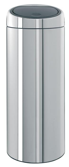 Бак мусорный Brabantia Touch Bin, цвет: стальной, 30 л287367Стильный Touch Bin на 30 литров – непременный атрибут каждой гостиной или кухни. Порадуйте себя и удивите гостей! Бесшумное открывание/закрывание крышки легким касанием – система «soft touch». Удобная смена мешков для мусора – съемный блок крышки из нержавеющей стали. Удобная очистка – съемное внутреннее ведро из пластика с вентиляционными отверстиями, предотвращающими образование вакуума при вынимании полного мусорного мешка. Легкое перемещение с места на место – прочная ручка для переноски. Предохранение пола от повреждений – пластиковый защитный обод. Бак изготовлен из коррозионно-стойких материалов – долговечность и удобство в очистке. Всегда опрятный вид – идеально подходящие по размеру мешки для мусора со стягивающей лентой (размер G). 10-летняя гарантия Brabantia.