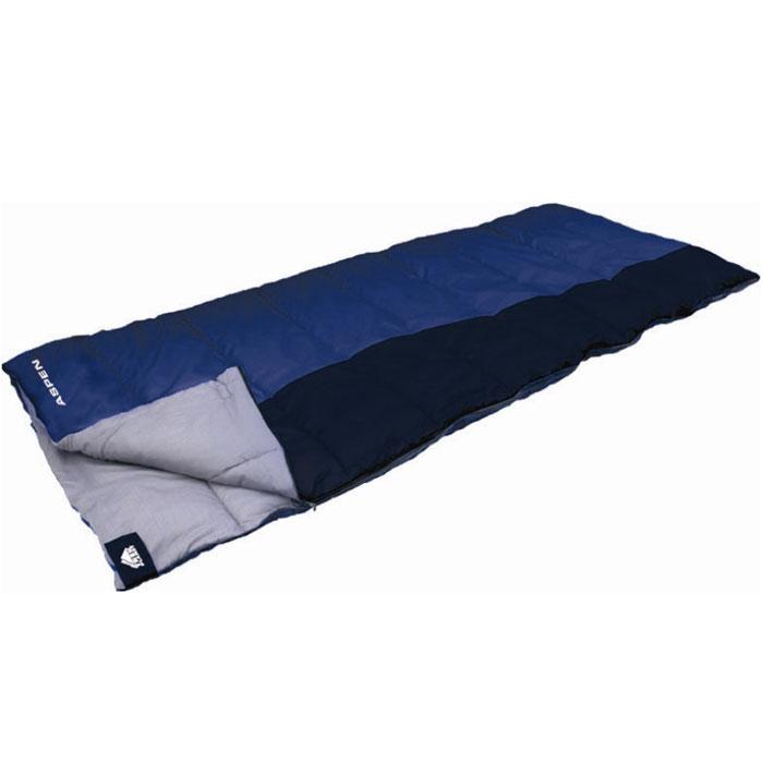 """Спальник Trek Planet """"Aspen"""", цвет: синий, правосторонняя молния"""