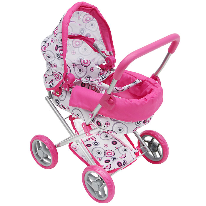 """Коляска-люлька для кукол """"Melobo"""", цвет: розовый. Т52269, 1TOY"""