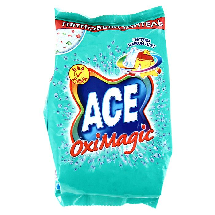 Пятновыводитель Ace Oxi Magic, 200 г пятновыводитель ace oxi magic white 500 г