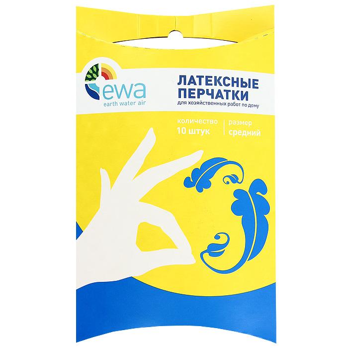 Перчатки латексные Ewa, размер: средний, 10 шт4607115590028Универсальные латексные перчатки Ewa обеспечат вас надежной защитой от агрессивных моющих средств, бытовой химии, грязи, воздействия воды при выполнении всех видов домашних работ. Текстурированные перчатки изготовлены из натурального латекса. Обладают хорошей эластичностью, что позволяет сохранить высокую чувствительность рук. Латексные перчатки Ewa помогут вам сохранить надолго молодость и красоту ваших рук. Каждая перчатка может использоваться как на правую, так и на левую руку.