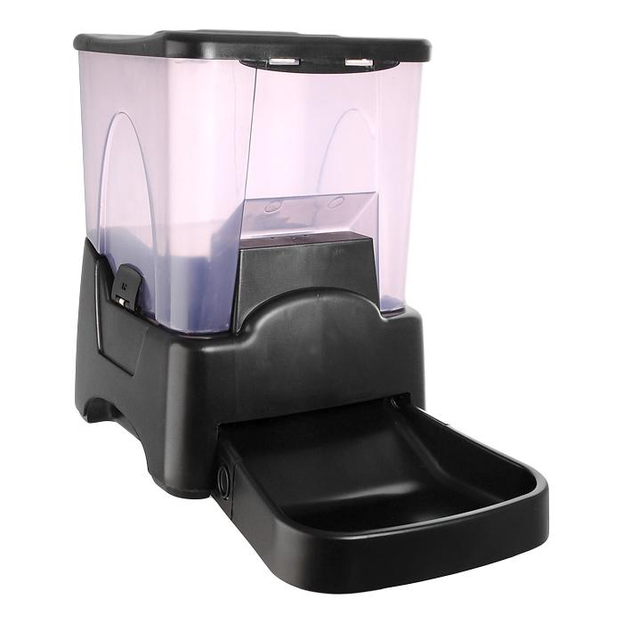 Кормушка автоматическая Feed-Ex, для сухого корма, цвет: черный, 6-7 кг