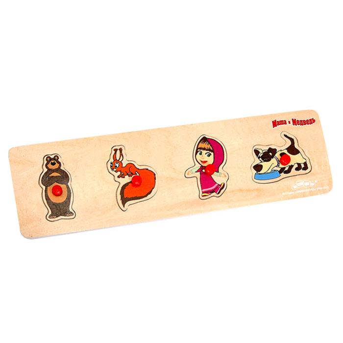 Развивающая игра-пазл Маша и Медведь, 4 элемента развивающая игра пазл маша и медведь 4 элемента