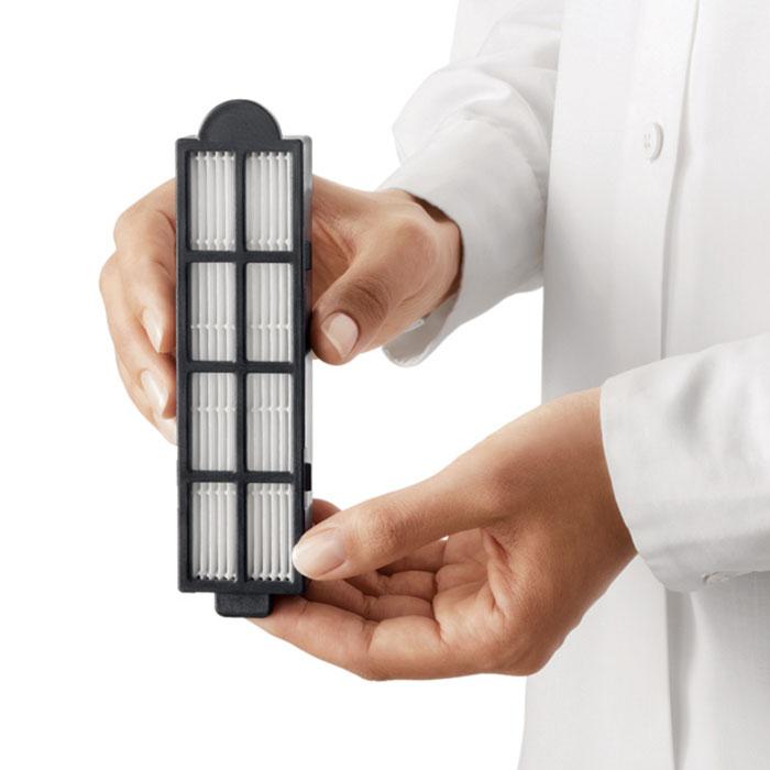 Philips FC8045/01FC8045/01Фильтр Philips FC8045/01 задерживает вредных микроскопических насекомых, вызывающих респираторные аллергии. Для обеспечения оптимальной фильтрации заменяйте фильтр раз в полгода.Высококачественный фильтрующий материал