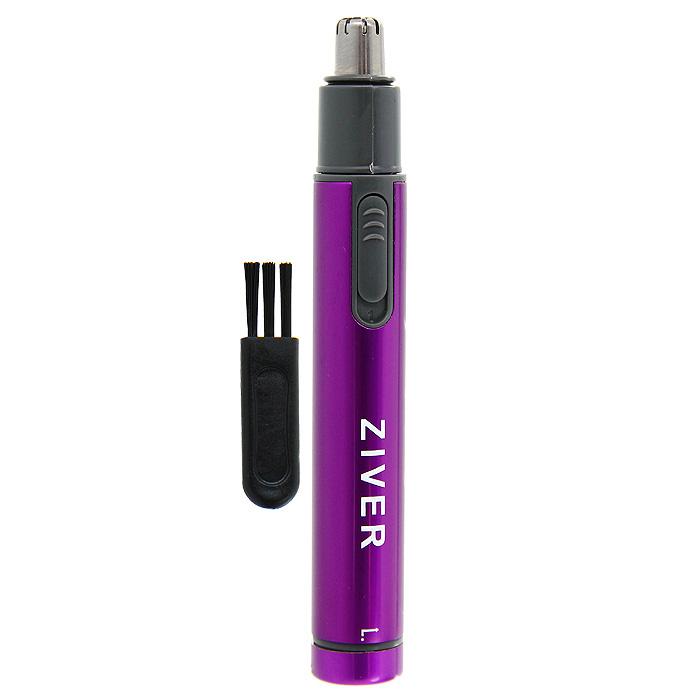 Триммер Ziver для стрижки волос в носу и ушах, цвет: фиолетовый10.ZV.006_фТриммер Ziver специально разработан для безопасной стрижки волосков в носу и ушах. Модный и эргономичный дизайн триммера позволяет вместить его даже в небольшую дорожную косметичку! Компактный прибор состригает волоски без боли.К триммеру прилагается защитный колпачок и щеточка для очистки. Триммер работает от 1 батарейки типа ААА (не входит в комплект). Характеристики:Материал: пластик, металл. Размер триммера: 1,4 см х 1,4 см х 11 см. Артикул: 10.ZV.006. Производитель: Китай.