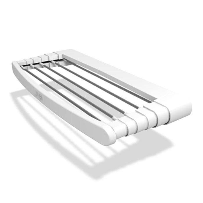 Сушилка для белья Telepack 100, раздвижная10770105Раздвижная сушилка для белья Telepack 100 - удобная и функциональная вещь, которая поможет сэкономить пространство, а также бережно и аккуратно высушить белье. Она идеально подходит для крепления около радиатора отопления, на балконе, в ванной комнате или в каком-либо другом удобном для вас месте.Сушилка изготовлена из прочного пластика и имеет шесть алюминиевых струн. Она надежно крепится к поверхности с помощью шурупов и дюбелей (в комплект не входят). В сложенном виде сушилку можно использовать как удобную вешалку для полотенец.Простая и практичная конструкция такой сушилки делает ее незаменимой вещью в каждом доме. Характеристики:Материал: пластик, алюминий. Размер сушилки (в разложенном виде): 38 см х 5 см х 100 см. Размер сушилки (в сложенном виде): 15 см х 5 см х 100 см. Максимальная нагрузка:7 кг. Размер упаковки:104 см х 6 см х 15 см. Производитель: Италия. Артикул: 10770105. УВАЖАЕМЫЕ КЛИЕНТЫ!Обращаем ваше внимание, что изображенные на последних двух фотографиях полотенца не входят в комплектацию товара, а служит лишь для демонстрации способа эксплуатации данной сушилки.