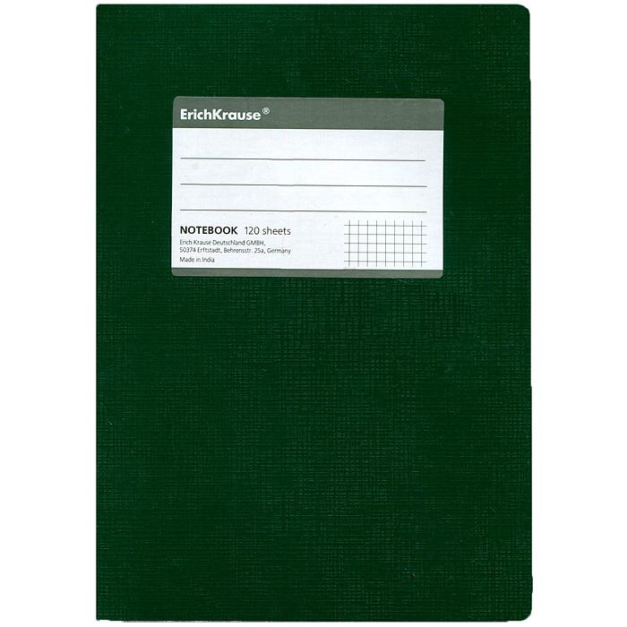 Тетрадь One Color, цвет: зеленый, 120 листов, А527953Тетрадь One Color в клетку из белой офсетной бумаги послужит прекрасным местом для различных записей. Обложка тетради выполнена из тонкого картона с покрытием. Такая тетрадь подойдет как школьнику, так и студенту. Характеристики:Размер тетради: 14,5 см х 20,5 см х 1,1 см. Формат: А5. Количество листов: 120. Материал: картон, бумага. Изготовитель: Индия.