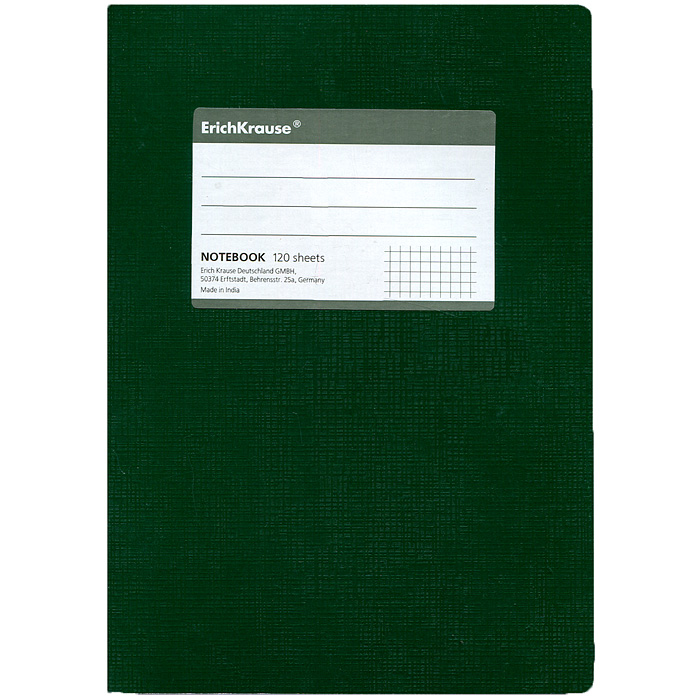 Тетрадь  One Color , цвет: зеленый, 120 листов, А5 -  Тетради