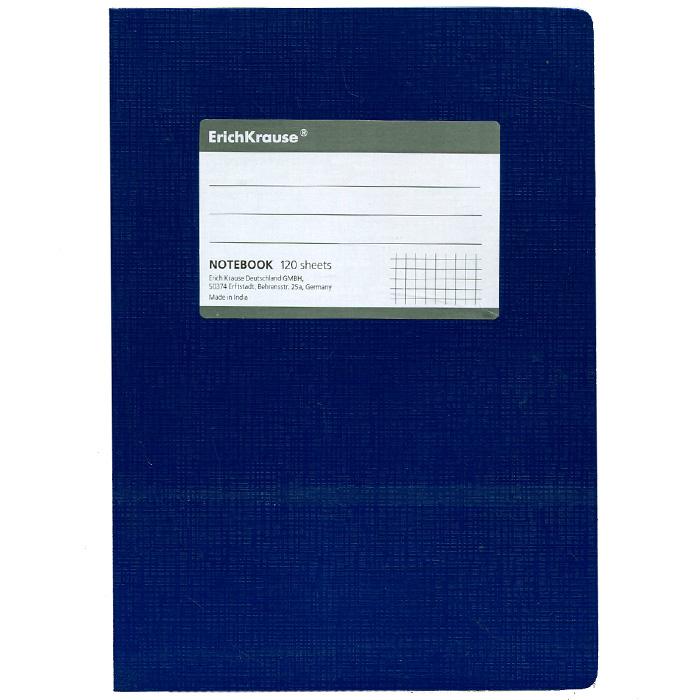 Тетрадь One Color, цвет: синий, 120 листов, А527951Тетрадь One Color в клетку из белой офсетной бумаги послужит прекрасным местом для различных записей. Обложка тетради выполнена из тонкого картона с покрытием. Такая тетрадь подойдет как школьнику, так и студенту. Характеристики:Размер тетради: 14,5 см х 20,5 см х 1,1 см. Формат: А5. Количество листов: 120. Материал: картон, бумага. Изготовитель: Индия.