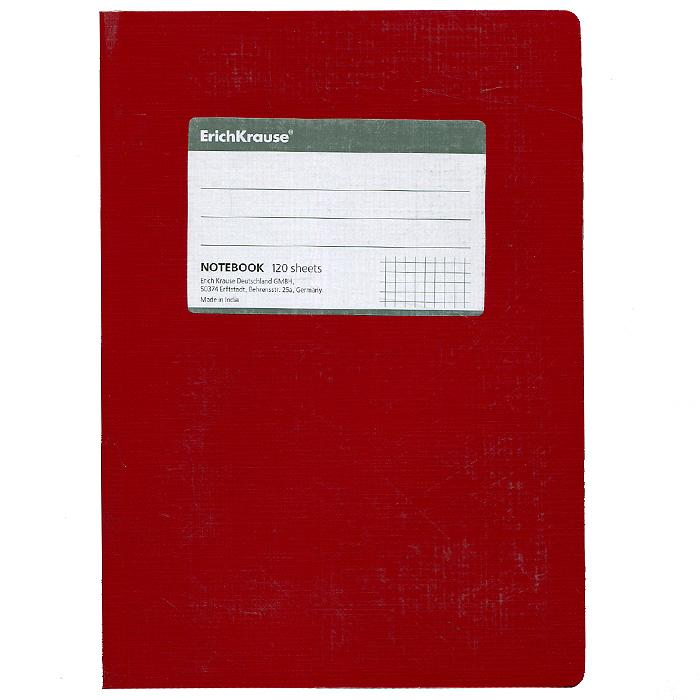Erich Krause Тетрадь One Color 120 листов в клетку цвет красный27952Тетрадь One Color в клетку из белой офсетной бумаги послужит прекрасным местом для различных записей. Обложка тетради выполнена из тонкого картона с покрытием. Такая тетрадь подойдет как школьнику, так и студенту.
