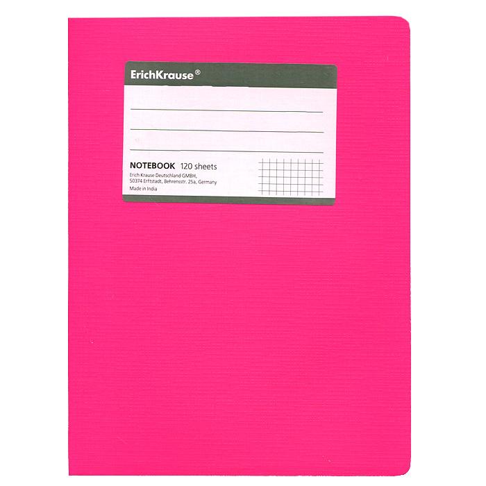 Тетрадь Fluor, цвет: розовый, 120 листов, А527956Тетрадь Fluor в клетку из белой офсетной бумаги послужит прекрасным местом для различных записей. Обложка тетради выполнена из тонкого картона с покрытием. Такая тетрадь подойдет как школьнику, так и студенту. Характеристики:Размер тетради: 14,5 см х 20,5 см х 1,1 см. Формат: А5. Количество листов: 120. Материал: картон, бумага. Изготовитель: Индия.