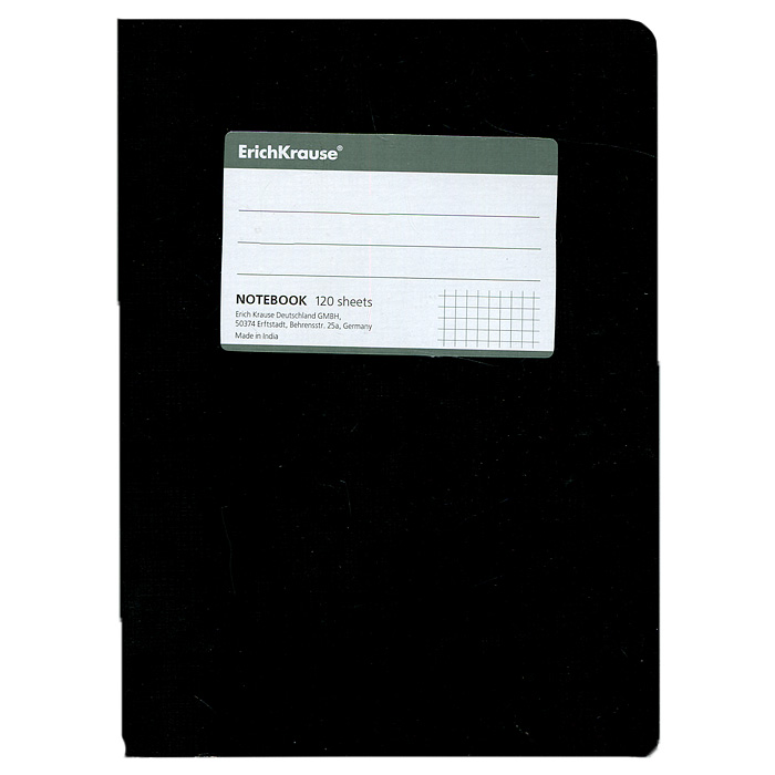 Тетрадь One Color, цвет: черный, 120 листов, А527950Тетрадь One Color в клетку из белой офсетной бумаги послужит прекрасным местом для различных записей. Обложка тетради выполнена из тонкого картона с покрытием. Такая тетрадь подойдет как школьнику, так и студенту. Характеристики:Размер тетради: 14,5 см х 20,5 см х 1,1 см. Формат: А5. Количество листов: 120. Материал: картон, бумага. Изготовитель: Индия.