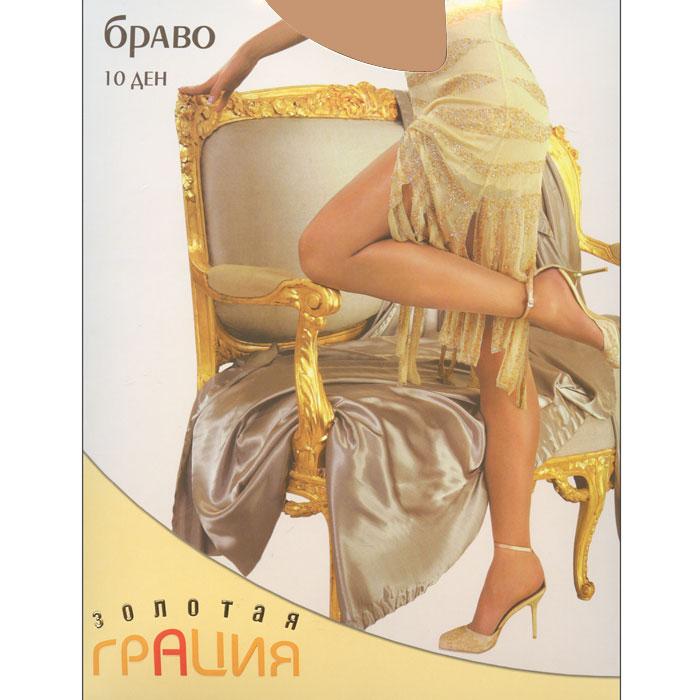 Колготки классические Золотая Грация Браво 10, цвет: телесный. Размер 3 колготки классические золотая грация браво 20 цвет черный размер 6