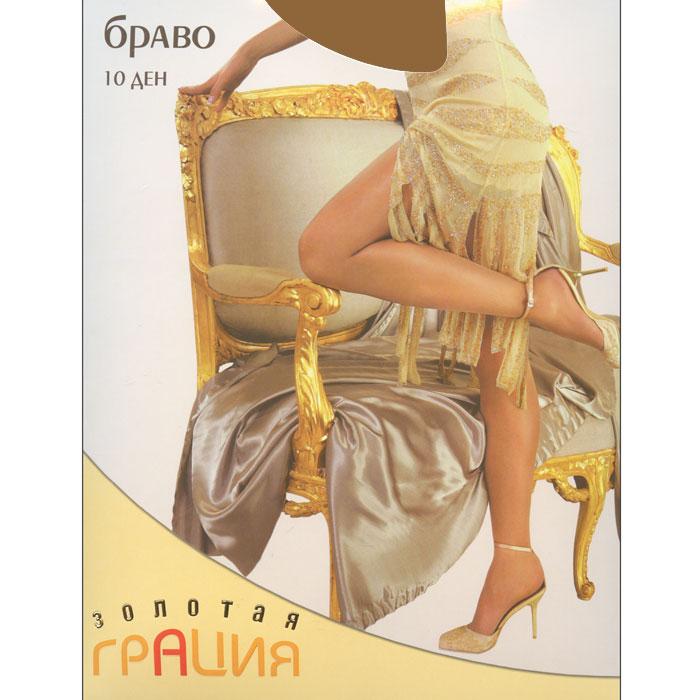 Колготки классические Золотая Грация Браво 10, цвет: загар. Размер 2 колготки классические золотая грация браво 20 цвет черный размер 6