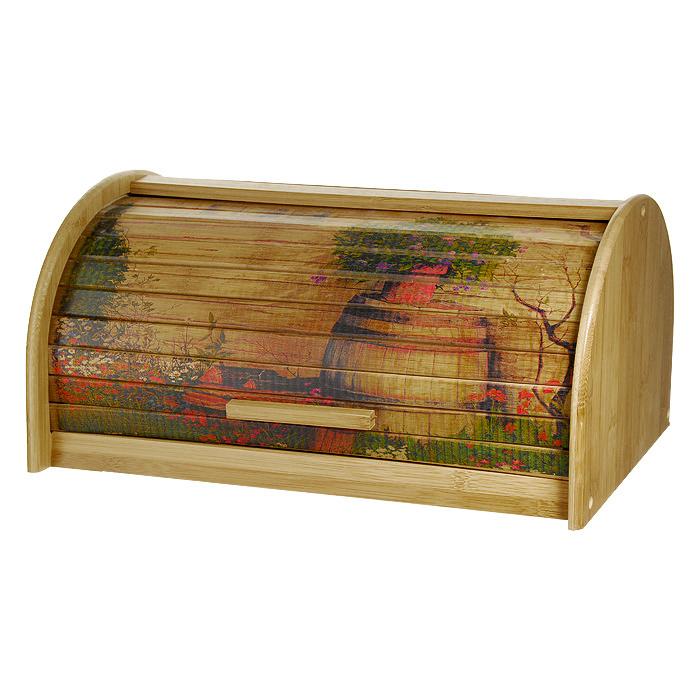 Хлебница Amadeus 32HS-500532HS-5005Хлебница Amadeus позволит сохранить ваш хлеб свежим и вкусным. Выполнена в классическом дизайне из бамбука. Хлебница снабжена дверцей в виде шторки-жалюзи, декорированной рисунком. Эксклюзивный дизайн, эстетика и функциональность хлебницы делают ее превосходным аксессуаром на вашей кухне. Характеристики:Материал: бамбук. Размер (Д х Ш х В): 24 см х 39 см х 19 см. Производитель: Германия. Артикул: 32HS-5005.