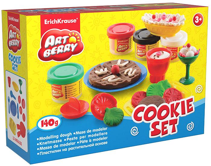 Набор для лепки (на растительной основе) Cookie Set, 4 цвета30375Пластилин на растительной основе Cookie Set - увлекательная игрушка, развивающая у ребенка мелкую моторику рук, воображение и творческое мышление. Пластилин легко разминается, не липнет к рукам и рабочей поверхности, не пачкает одежду. Цвета смешиваются между собой, образуя новые оттенки. Пластилин застывает на открытом воздухе через 24 часа. Набор содержит пластилин 4 цветов (белого, красного, коричневого, ярко-зеленого), вафельницу, поднос с ручками, овальную тарелочку, круглую тарелочку, вилочку, ножик, ложечку, бокал, чашку, 4 фигурных штампа. Пластилин каждого цвета хранится в отдельной пластиковой баночке. С пластилином на растительной основе Cookie Set ваш ребенок будет часами занят игрой. Характеристики:Общий вес пластилина: 140 г. Диаметр вафельницы: 8 см. Средний размер штампа: 3,5 см x 3,5 см x 2,5 см. Высота бокала: 4,5 см. Высота чашки: 4 см. Размер подноса: 10,5 см x 6,5 см x 1,5 см. Диаметр круглой тарелки: 10 см. Размер овальной тарелки: 8 см x 3,5 см x 2,5 см. Размер упаковки: 16 см x 11,5 см x 4 см. Изготовитель: Россия.
