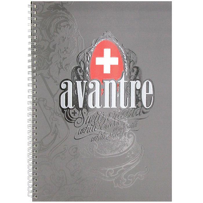 "Тетрадь ""White Cross Originals"", цвет: серый, 80 листов, А4, Avantre"