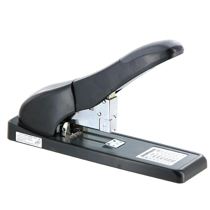 Степлер Erich Krause, на 140 листов, для скоб № 24/6, 23/8, 23/10, 23/13, 23/15, 23/17, цвет: черныйEK5412Мощный степлер Erich Krause с горизонтальной загрузкой скоб незаменимый атрибут рабочего стола. Степлер из высококачественного черного пластика имеет нескользящее основание и оснащен регулятором расстояния сшивания. Отсек для скоб вынимается простым нажатием кнопки.Степлер прошивает до 140 листов бумаги, вмещает до 100 скоб размера № 24/6, 23/8, 23/10, 23/13, 23/15, 23/17.Степлер Erich Krause надежно скрепит ваши документы и рабочие бумаги.Характеристики: Материал: пластик, металл. Размер степлера: 31 см х 7 см х 15,5 см. Размер упаковки: 32,5 см х 15,5 см х 9 см. Изготовитель: Китай. Бренд Erich Krause - это полный ассортимент канцтоваров для офиса и школы, который гарантирует безукоризненное исполнение разных задач в процессе работы или учебы, органично и естественно сопровождает вас день за днем.Для миллионов покупателей во всем мире продукция Erich Krause стала верным и надежным союзником в реализации любых проектов и самых амбициозных планов.Высококвалифицированные специалисты Erich Krause прилагают все свои усилия, что бы каждый продукт компании прослужил максимально долго и неизменно радовал покупателей удобством и легкостью использования, надежностью в эксплуатации и прекрасным дизайном.