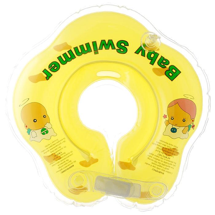 Круг на шею Baby Swimmer, цвет: желтый, 3-12 кг roxi kids fl002 круг на шею для купания малышей