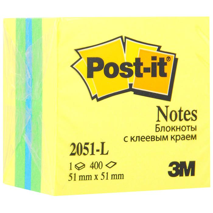 Бумага для заметок Post-it Мини куб с липким слоем, 5,1 см х 5,1 см. 2051-L2051-L**Бумага для заметок с липким слоем Мини куб прекрасно подойдет для записи номеров телефонов, адресов, напоминания о важной встрече или внезапно пришедшей полезной мысли.Бумагу можно наклеивать на любую гладкую поверхность, без опасения оставить след от клея.Блок содержит 400 листов из бумаги 3 цветов: желтого, зеленого, синего. Характеристики:Размер листа: 5,1 см х 5,1 см. Количество: 400 листов в блоке.