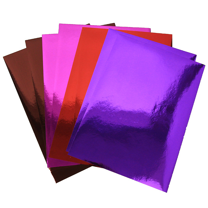 Набор цветной металлизированной бумаги Fancy, 8 листов. FD010020 канцелярия fancy creative набор самоклеющейся цветной голографической бумаги a4 6 цв 6 л