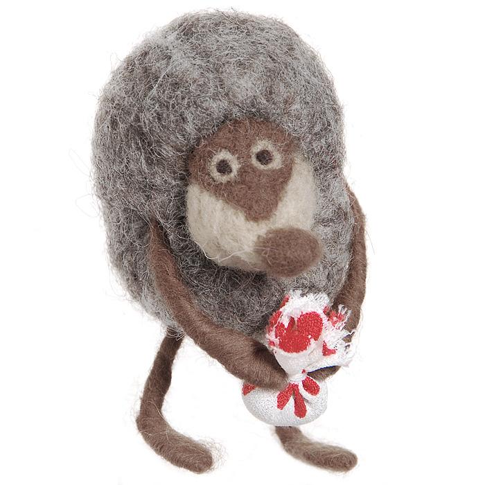 Авторская игрушка YusliQ Ежик в тумане. Валяная шерсть. Ручная работа. Ku2