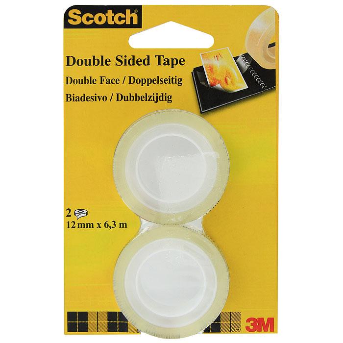 Клейкая лента  Scotch , цвет: прозрачный, 2 шт. 136-R2 -  Клейкая лента