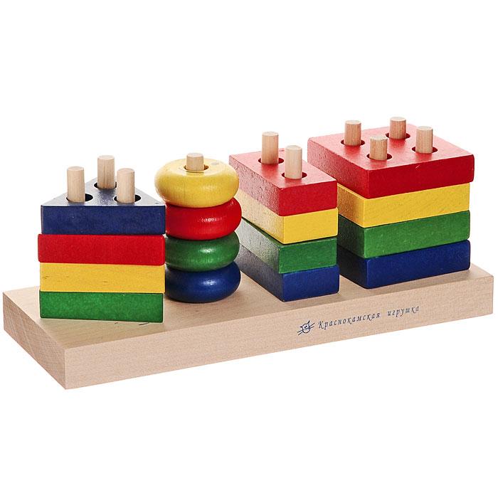 Краснокамская игрушка Набор строительных деталей Геометрик