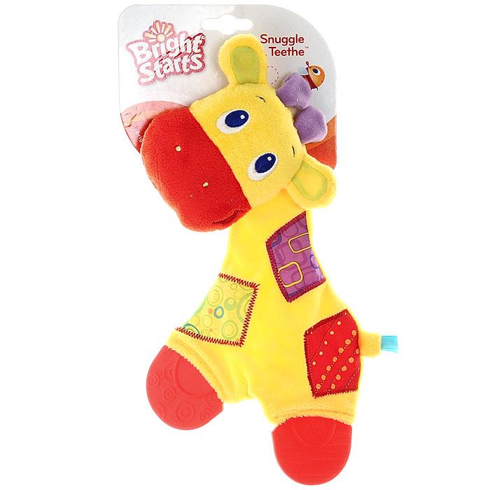 погремушки bright starts развивающая игрушка погремушка розовая бабочка Bright Starts Развивающая игрушка с прорезывателями Самый мягкий друг Жираф