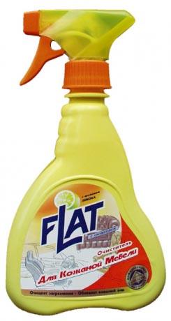 """Очиститель для кожаной мебели Flat """"Лимон"""" с запахом лимона предназначен для чистки мебели из натуральной и  искусственной кожи, винила. Прекрасно очищает загрязнения, """"засиженные"""" места. Подходит для чистки  салонов автомобилей. Входящий в состав силикон придает коже блеск, обновленный вид, отталкивает пыль. Не  содержит веществ, портящих кожаную поверхность. Флакон с курком распылителем позволяет экономно  расходовать средство и наносить его непосредственно на пятно.   Товар сертифицирован."""