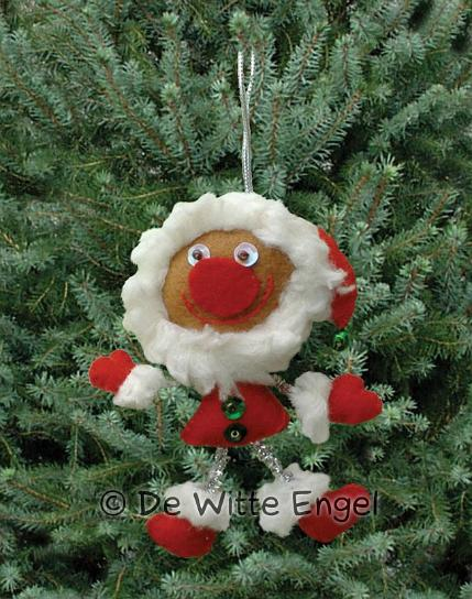 """Набор для изготовления вальдорфской игрушки """"Krazy Kits. Санта"""", 10 см х 8 см, De Witte Engel"""