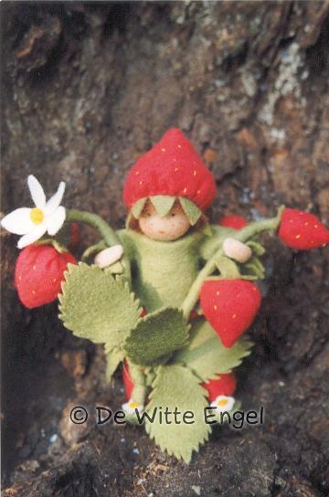 """Набор для изготовления вальдорфской игрушки """"Земляника"""", 12 см, De Witte Engel"""