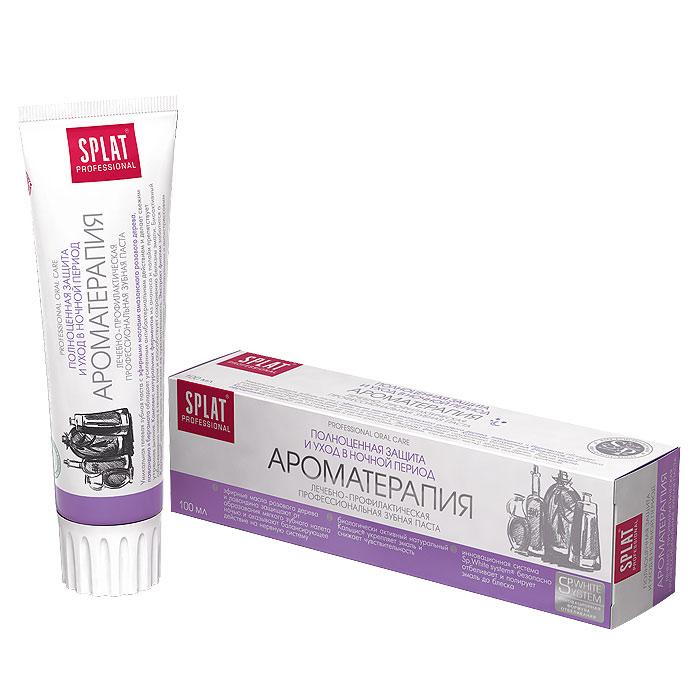 Зубная паста Splat Professional Aromatherapy/Ароматерапия, 100 млАР-118Уникальная гелевая зубная паста с эфирными маслами амазонского розового дерева, лавандина и бергамота обладает усиленным антибактериальным действием и способствует сохранению свежести утреннего дыхания.Паста максимально подходит для применения перед сном.Комплекс натуральных ферментов из ананаса и папайи препятствует образованию налета в течение ночи и способствует сохранению чистоты эмали.Компонент Polydon обеспечивает полирующий эффект, что препятствует фиксации бактерий на поверхности эмали.Сочетание эфирных масел, входящих в ее состав, обеспечивает релаксирующий и антистрессовый эффект и надолго защищает от бактерий.Экстракт фиалки заботится о здоровье десен.Биоактивный Кальцис укрепляет эмаль, снижая чувствительность зубов.Без фтора. Активные компоненты:Кальцис, Polydon, ксилит, экстракт черной икры, папаин, бромелайн, эфирное масло розового дерева, экстракт фиалки, эфирное масло лавандина, эфирное масло бергамота. Клинически доказано: Очищающий эффект - 42,9% Противовоспалительный эффект - 41,8% Десенситивный эффект - 46,3% Дезодорирующий эффект- 41,4%Эффект: Эфирные масла розового дерева и лавандина защищают от образования мягкого зубного налета ночью и оказывают балансирующее действие на нервную систему. Биологически активный натуральный Кальцис укрепляет эмаль и снижает чувствительность. Инновационная система Sp.White system безопасно отбеливает и полирует эмаль до блеска. Характеристики:Объем пасты: 100 мл. Размер упаковки: 18 см х 5 см х 5 см. Производитель: Россия. Товар сертифицирован.