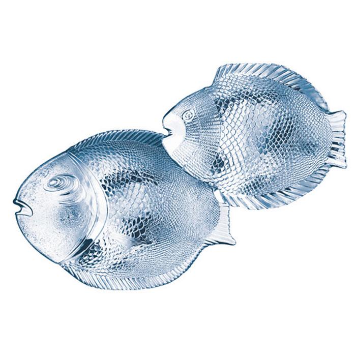 Набор тарелок Marine, цвет: прозрачный, 7 шт. 9715997159Набор Marine состоит из одной большой тарелки и шести маленьких. Изделия, выполнены из стекла в форме рыбы, предназначены для красивой сервировки различных блюд. Блюда сочетают в себе изысканный дизайн с максимальной функциональностью.Характеристики: Материал: стекло. Размер большой тарелки: 25 см х 36 см. Размер малой тарелки: 26 см х 21 см. Размер упаковки: 36,5 см х 27 см х 12,5 см. Производитель: Турция. Изготовитель: Россия. Артикул: 97159.