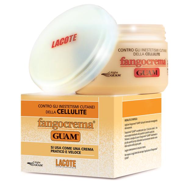Крем антицеллюлитный Guam, с разогревающим эффектом, на основе грязи, 300 мл0416Крем антицеллюлитный Lacote Guam на основе вулканической пыли. Аналог обертывания, не требует смывания водой.Особая формула антицеллюлитного крема активно борется с целлюлитом и образованием жировых отложений, придавая коже упругость и гладкость. Благодаря глубокому проникновению биологически активных веществ активизируются обменные процессы, что способствует выведению токсинов и жиров. Усиливается микроциркуляция и нормализуется лимфоток. Маслянистая текстура крема позволяет повысить эффективность массажа.Применение: наносить на чистую кожу похлопывающими вбивающими движениями до полного впитывания 1-2 раза в день. Характеристики:Объем: 300 мл. Производитель: Италия.Артикул:0497.Товар сертифицирован.