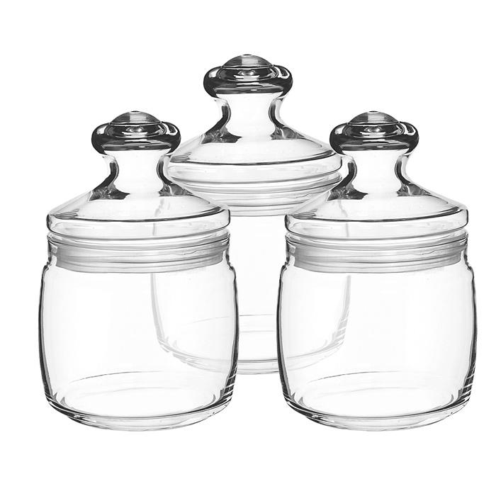 Набор банок для хранения Pasabahce Cesni 0,65 л, 3 шт 97424 pasabahce cesni 97425