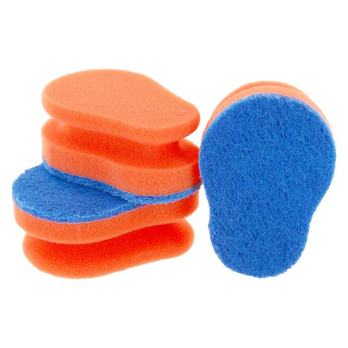 Набор губок Aqualine для мытья посуды, цвет: оранжевый, голубой, 3 шт38_розовыйНабор Aqualine состоит из трех эргономичных губок, предназначенных длямытья посуды из тефлона, стекла, фарфора, хрусталя, полированной стали,стеклокерамики. Губки отлично удаляют жир, грязь и пригоревшую пищу, не царапая посуду.Жесткая сторона губки не содержит абразива, чистит основательно и бережно,хорошо впитывает жидкость. Губки позволяют расходовать минимальноеколичество чистящих средств. Специальные пазы для пальцев по краям губокзащитят ваши руки во время мытья посуды. Размер губки: 10 см х 4,2 см х 7 см.