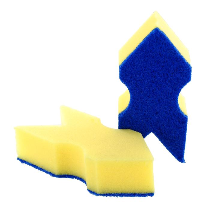 Набор губок Aqualine Стрела для мытья посуды, 2 шт1052Набор Aqualine Стрела состоит из двух губок, которые предназначены для мытья посуды из деликатных материалов: акрила, тефлона, стекла, фарфора, хрусталя и полированной стали. Губки отлично удаляют жир, грязь и пригоревшую пищу, не царапая посуду. Для удобства применения на губках с одной стороны нанесен текстильный абразивный слой, который полностью удаляет сильные загрязнения. Характеристики:Материал губки: 100% полиуретан. Материал чистящей поверхности губки:30% полиамид, 10% полиэстер, 60% связующие вещества. Размер губки:16 см х 4 см х 7 см. Комплектация:2 шт. Производитель:Германия. Артикул:1052.