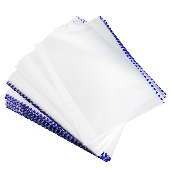 Файл-вкладыш Erich Krause, с перфорацией, цвет: прозрачный, синий, формат А4, 100 шт30631Файл-вкладыш Erich Krause отлично подойдет для подшивки документов в архивные папки без перфорирования дыроколом. Боковая цветная полосапозволяет сортировать документы по темам. Стандартная перфорация совместима с любыми видами архивных папок. Комплект включает 100 перфофайлов с боковой полосой синего цвета. Характеристики:Размер перфофайла (без учета перфорации): 21,5 см x 30,5 см. Изготовитель: Россия.