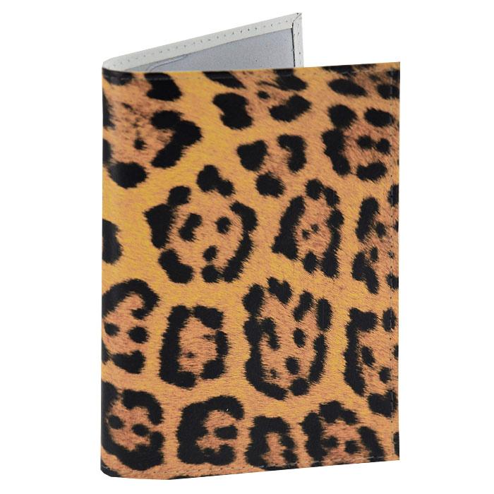 Обложка для паспорта Леопардовый принт. OK076
