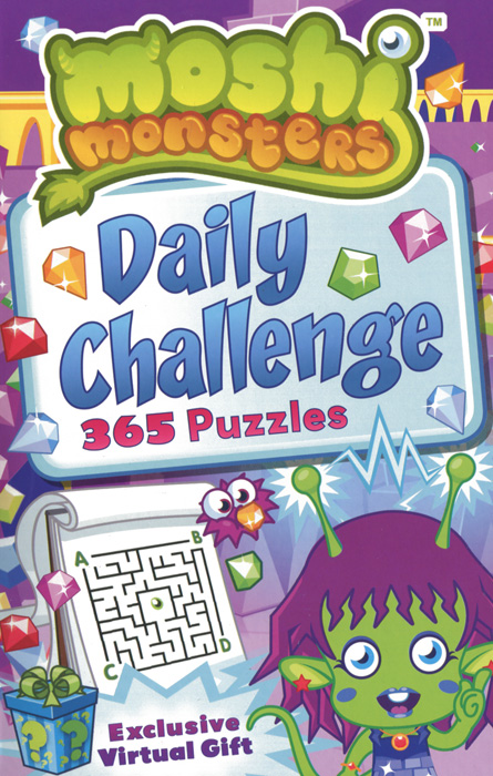Moshi Monsters: Daily Challenge Puzzle Book romping monsters stomping monsters
