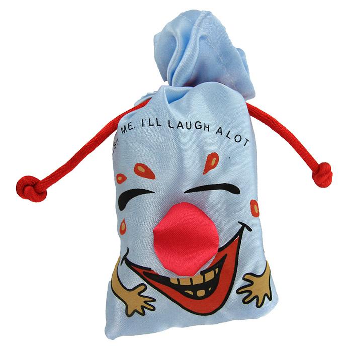 Сувенир Эврика Мешочек со смехом, цвет: голубой93398Сувенир Эврика Мешочек со смехом, изготовленный из текстиля, несомненно, станет замечательным и оригинальным подарком для друзей и близких и вызовет улыбку у каждого! Мешочек является замечательным антидепрессантом и улучшителем настроения. Сожмите его в руке и он зальется звонким смехом. Изделие оформлено забавной смеющейся рожицей и надписью Push me, ill laugh a lot. Отличный сувенир для хорошего настроения!
