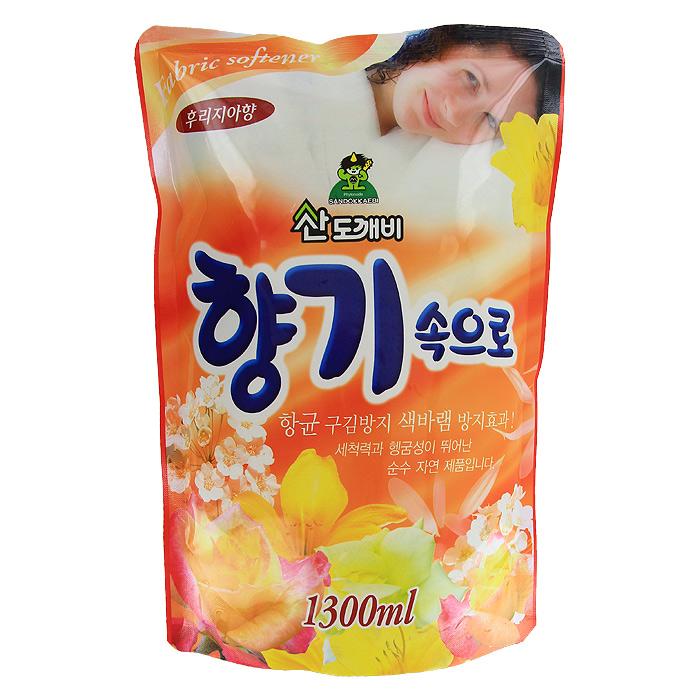 Кондиционер для белья Soft Aroma, концентрированный, фрезия, сменная упаковка, 1,3 л